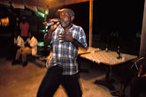 bar stock photography | Barbados, Christ Church, Karaoke singing, Oistins, image id 0-207-45