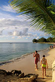 woman walking stock photography | Barbados, Holetown, Coral Reef Club, beach, image id 3-388-59