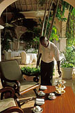 waiter stock photography | Barbados, St. James, Afternoon tea, image id 3-388-98