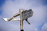 aim stock photography | Barbados, Signpost, image id 3-482-83