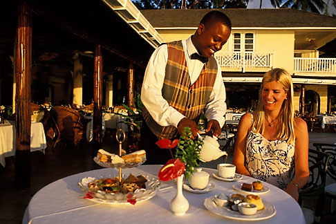 image 3-490-41 Barbados, Holetown, Coral Reef Club, afternoon tea
