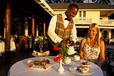 smiling woman stock photography | Barbados, Holetown, Coral Reef Club, afternoon tea, image id 3-490-41