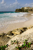 surf and rocks stock photography | Barbados, St. Philip, Crane Beach and the Crane Hotel, image id 3-490-80