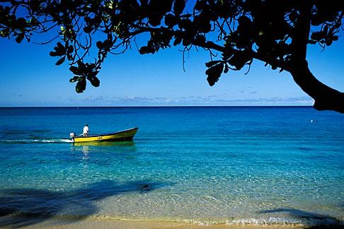 image 3-493-13 Barbados, St James, Fishing boat