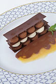 dark chocolate stock photography | Fod, Mille feuille of white and dark chocolate, image id 3-493-50