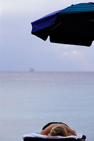 image 3-494-25 Barbados, sunbather