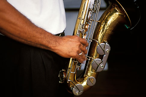 image 3-494-35 Barbados, St James, Saxophone player