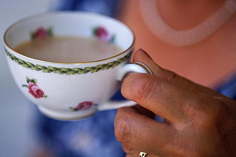 image 3-494-79 Food, Woman drinking tea