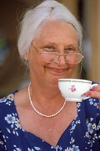 image 3-494-89 Food and People, Woman drinking tea