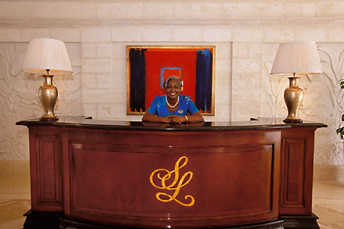 image 3-496-37 Barbados, St James, Sandy Lane hotel, concierge, reception