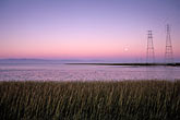 sunset scenic stock photography | California, San Francisco Bay, Transmission towers, Palo Alto baylands, image id 0-283-12