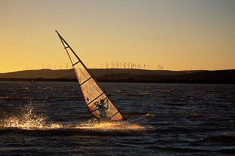 image 0-382-14 California, Delta, Windsurfing, Sherman Island