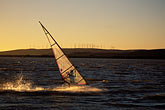 sunset stock photography | California, Delta, Windsurfing, Sherman Island, image id 0-382-14