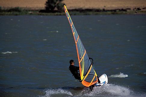 image 0-382-21 California, Delta, Windsurfing, Sherman Island