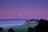 conservation stock photography | California, San Francisco, Moonrise over Crissy Field, image id 1-140-1