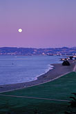 sunset scenic stock photography | California, San Francisco, Moonrise over Crissy Field, image id 1-140-60