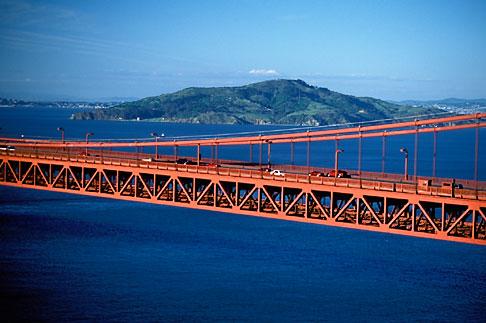 image 1-301-56 California, San Francisco Bay, Aerial view of Golden Gate Bridge