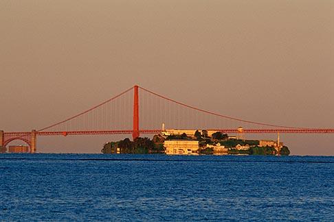 image 1-372-89 California, San Francisco Bay, Golden Gate Bridge and Alcatraz
