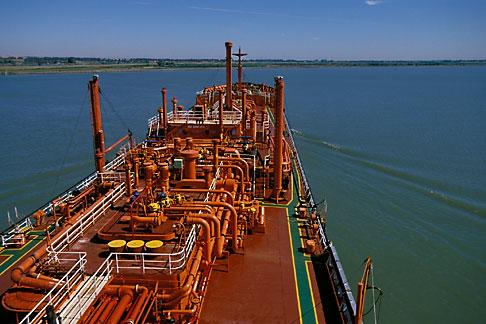 image 1-490-80 California, San Francisco Bay, Tanker Gaz Master, San Joaquin River