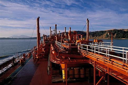 image 1-490-82 California, San Francisco Bay, Tanker Gaz Master, San Joaquin River