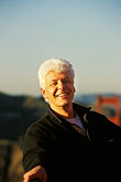 mature stock photography | California, San Francisco, Dick Bunce of GGNPA on Golden Gate Bridge, image id 1-62-19