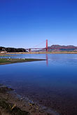 golden gate bridge towers stock photography | California, San Francisco, Crissy Field, GGNRA, tidal marsh, image id 1-62-4
