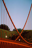 golden gate bridge towers stock photography | California, San Francisco, Golden Gate Bridge cables, image id 1-62-73