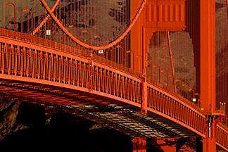 1-62-78  stock photo of California, San Francisco, Golden Gate Bridge roadway