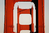 gate stock photography | California, San Francisco, Golden Gate Bridge towers, image id 1-62-79