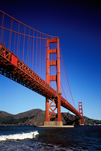 image 1-62-89 California, San Francisco, Golden Gate Bridge from Fort Point