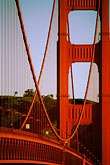 golden gate bridge towers stock photography | California, San Francisco, Golden Gate Bridge, image id 1-63-10