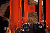 golden gate bridge towers stock photography | California, San Francisco, Golden Gate Bridge roadway, image id 1-63-19