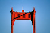 horizontal stock photography | California, San Francisco, Golden Gate Bridge tower, image id 1-63-9