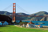 bay bridge stock photography | California, San Francisco, Golden Gate Bridge and restored Crissy Field, image id 1-70-35
