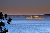 twilight stock photography | California, San Francisco, Alcatraz from Crissy Field, image id 1-70-65