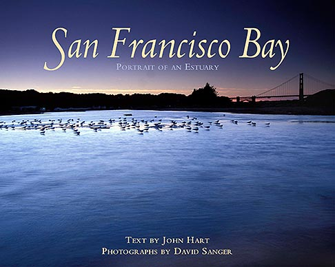1-70-43  stock photo of California, San Francisco, Tidal marsh at sunset with bridge, Crissy Field
