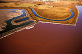 aerial view stock photography | California, San Francisco Bay, Cargill salt ponds near Newark, image id 1-770-39