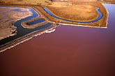 estuary stock photography | California, San Francisco Bay, Salt evaporation ponds near Newark, aerial view, image id 1-770-40