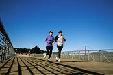 horizontal stock photography | California, San Francisco, Runners on the Promenade, Crissy Field, image id 1-80-2