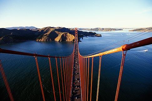 image 1-80-82 California, San Francisco, Marin Headlands from Golden Gate Bridge tower