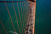 golden gate from south tower stock photography | California, San Francisco, Golden Gate Bridge from South tower, image id 1-81-29