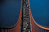 elevated view stock photography | California, San Francisco, Golden Gate Bridge from South tower, image id 1-81-41