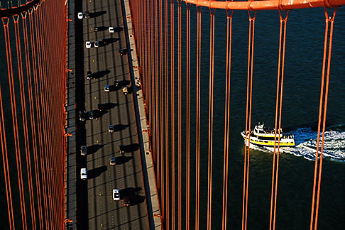 image 1-81-60 California, San Francisco, Golden Gate Bridge from South tower