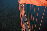 elevated view stock photography | California, San Francisco, Golden Gate Bridge from South tower, image id 1-81-83
