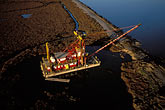 dredge stock photography | California, San Francisco Bay, Alameda Creek, Dredging, image id 1-846-85