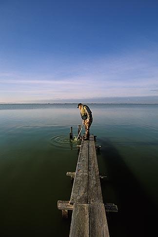 image 1-860-20 California, Sonoma County, San Pablo Bay Nat Wildlife Refuge, water sampling
