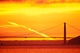 sunlight stock photography | California, San Francisco Bay, Golden Gate Bridge at sunset, image id 1-864-57