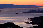 bridge stock photography | California, San Francisco Bay, Sunrise over San Francisco, image id 1-97-12