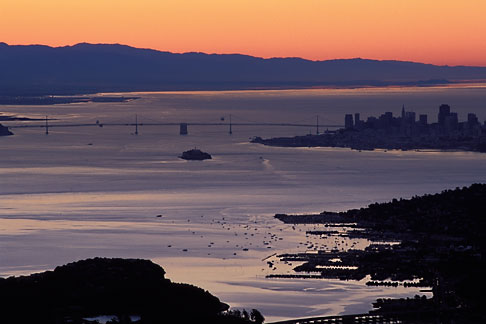 image 1-97-13 California, San Francisco Bay, Sunrise over San Francisco