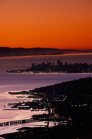 image 1-97-19 California, San Francisco Bay, Sunrise over San Francisco